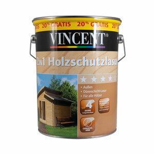 Vincent              2in1 Holzschutzlasur patinagrau, 4,8 L