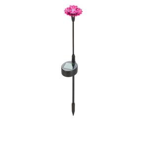 ProVida Solarstab mit Blume in Rosa