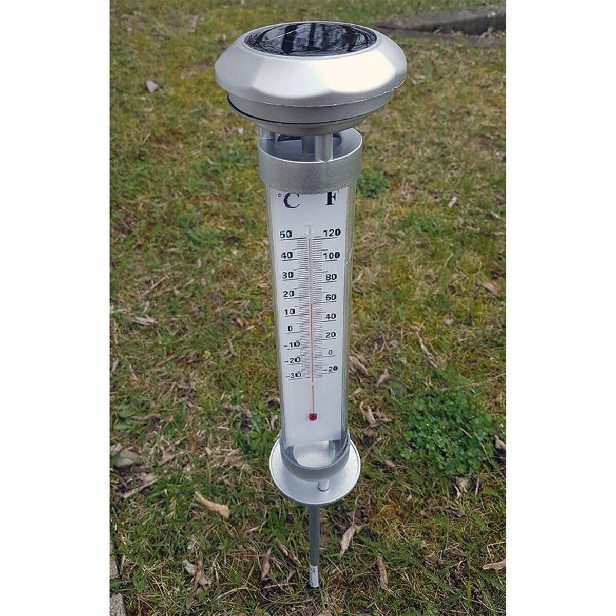 Bild 4 von Grundig Solar-Gartenthermometer mit LED-Beleuchtung 9,5x60cm