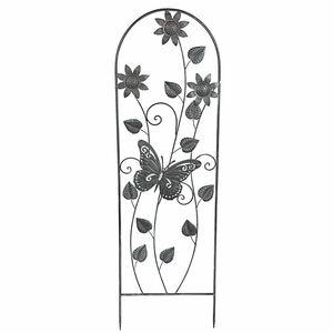Metall-Rankhilfe Schmetterling Vintage-Grey 118cm