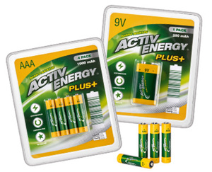 ACTIV ENERGY®  NiMH-Hochleistungsakkus