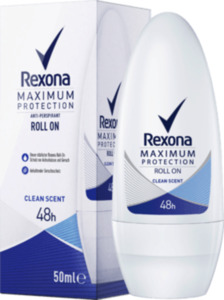 Rexona Deo Roll on Antitranspirant Maximum Protection Clean Scent