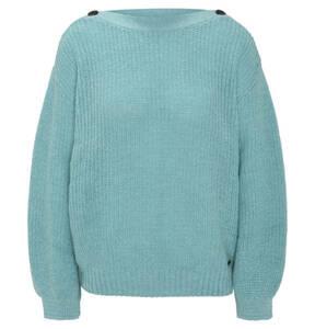 Pepe Jeans             Pullover, Woll-Anteil, Grobstrick, Knöpfe, weite Ärmel