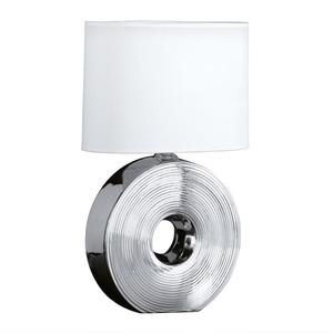 FISCHER & HONSEL Tischlampe 1 flg EYE 54 Silberfarbig mit Schirm Weiß