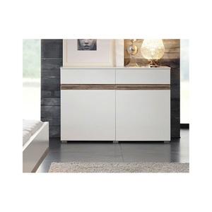 MONDO Kommode CATUN Weiß matt/Hochglanz ca. 121 x 84 x 41 cm