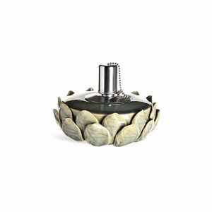 Öllampe Keramik, D:16cm x H:7,5cm, petrol