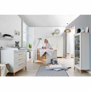 Schardt   3-tlg. Babyzimmer Miami white mit 3-türigem Kleiderschrank
