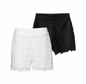 Laura Torelli COLLECTION Damen-Shorts mit Spitzenbesatz