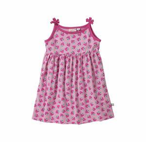 Liegelind Baby-Mädchen-Kleid mit Erdbeer-Muster