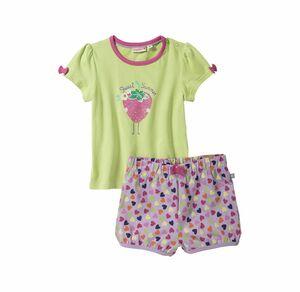 Liegelind Baby-Mädchen-Set mit Herzmuster, 2-teilig