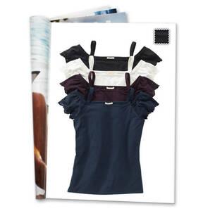 ESPRIT             T-Shirt, uni, Volant-Ärmel, Stickereien am Ärmel, Carmen-Ausschnitt
