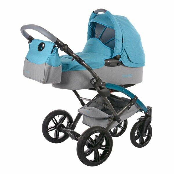 knorr-baby Kombikinderwagen Voletto HC Grau-Blau