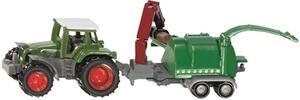 Siku Traktor mit Holzhäcksler