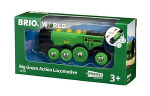 BRIO World Batterielok Grüner Gustav