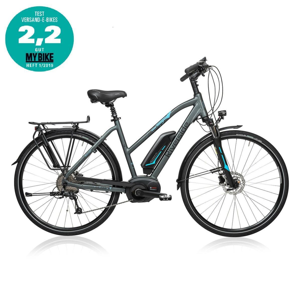 Bild 1 von E-Bike 28 Trekkingrad Riverside 500 Damen Performance Line 400Wh grau/blau