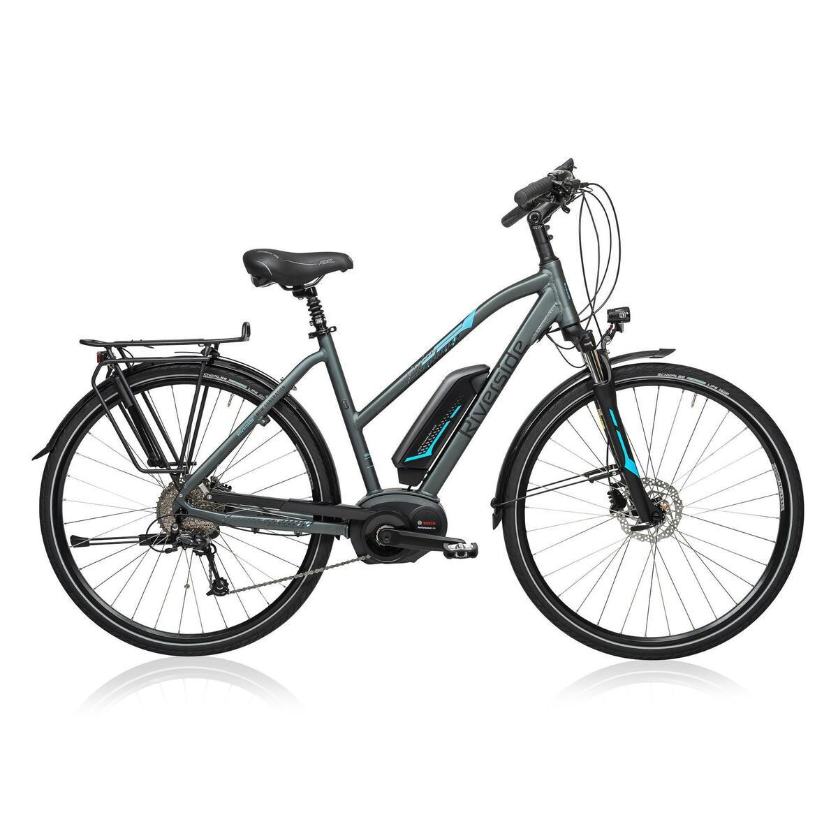 Bild 2 von E-Bike 28 Trekkingrad Riverside 500 Damen Performance Line 400Wh grau/blau