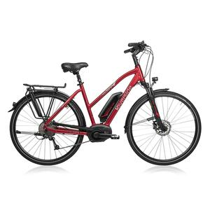 E-Bike 28 Riverside 500 Damen Performance Line Cruise 400Wh rot