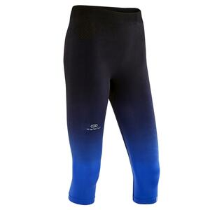 Laufhose 3/4 Tights Kiprun Care Damen schwarz/blau