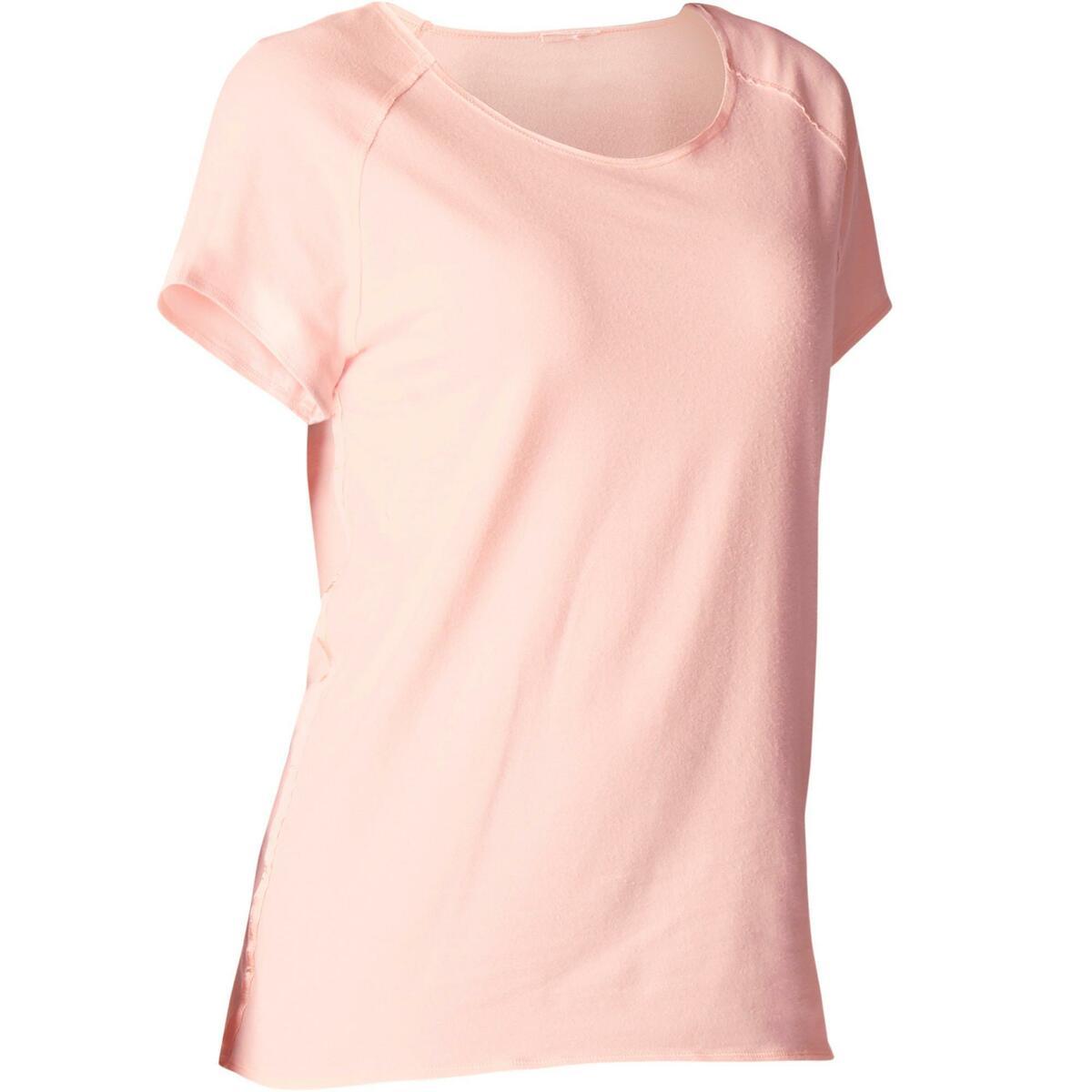 Bild 1 von T-Shirt sanftes Yoga aus Baumwolle aus biologischem Anbau Damen rosa