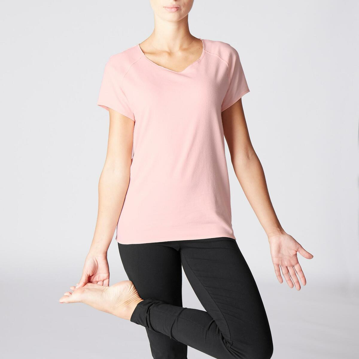 Bild 2 von T-Shirt sanftes Yoga aus Baumwolle aus biologischem Anbau Damen rosa