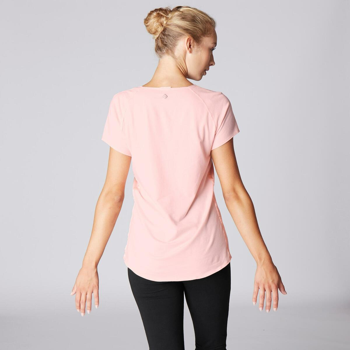 Bild 4 von T-Shirt sanftes Yoga aus Baumwolle aus biologischem Anbau Damen rosa