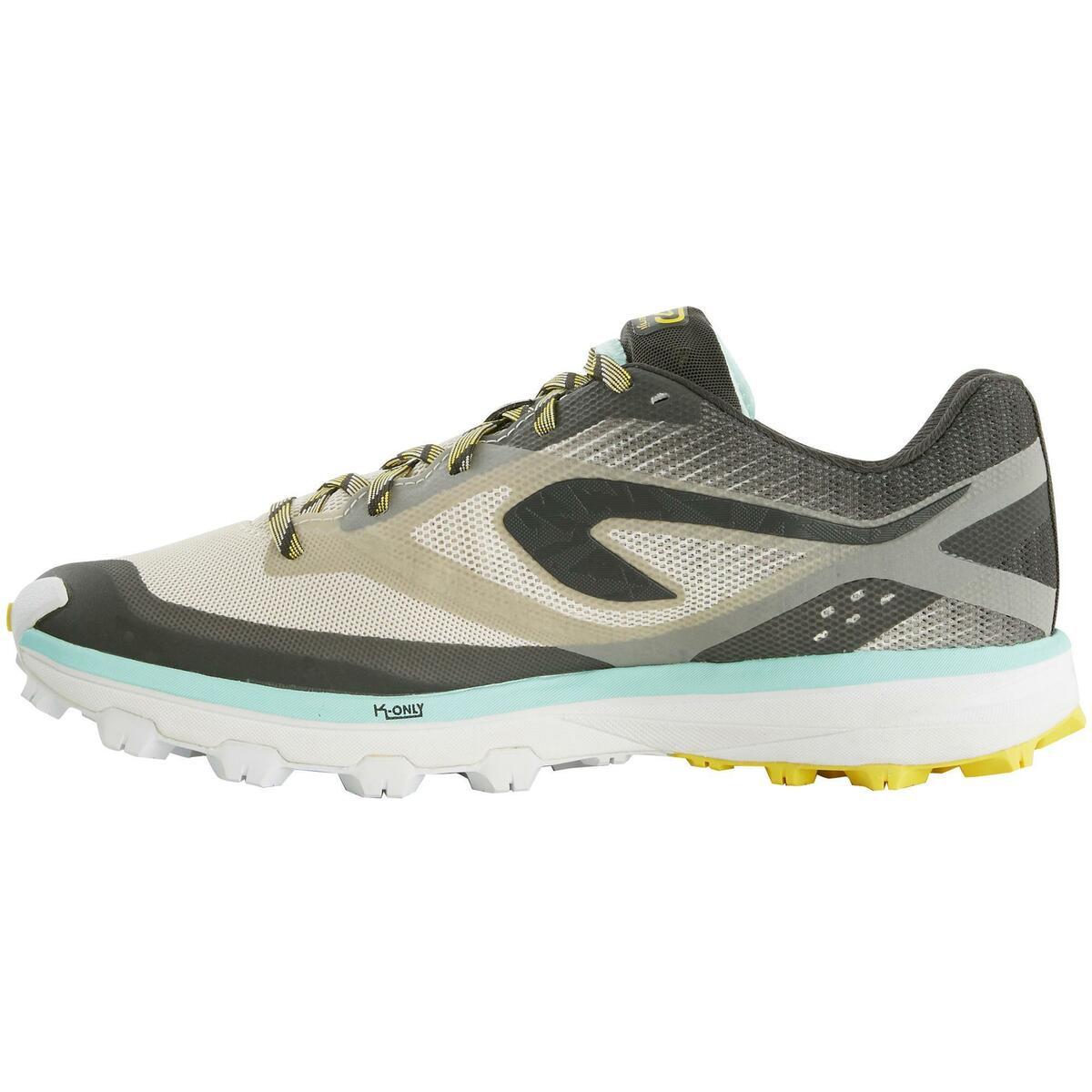 Bild 3 von Laufschuhe Trail Kiprun Race 4 Damen grau/gelb