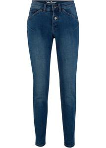 Stretch-Jeans aus klassischem Denim, Karottenform