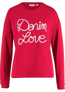 Sweatshirt mit Applikation, Langarm