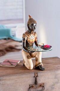 Buddha mit Glasplatte