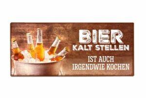 """Blechschild """"Bier kaltstellen"""""""
