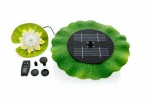 Solarwasserspiel mit LED Seerosen