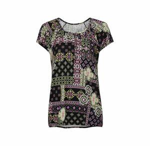 Laura Torelli Classic Damen-T-Shirt komplett gemustert