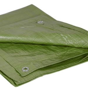 Abdeckplane 6 x 8 m 90 g/m² aus Bändchengewebe in grün