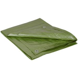 Abdeckplane 5 x 7 m 90 g/m² aus Bändchengewebe in grün