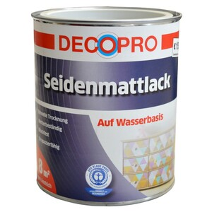DecoPro Acryl Seidenmattlack 750ml reinweiß