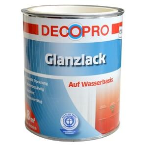 DecoPro Acryl Glanzlack 750 ml cremeweiß