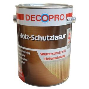 DecoPro Holz-Schutzlasur seidenglänzend 2,5 Liter in ebenholz