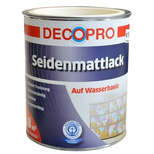 DecoPro Acryl Seidenmattlack 750 ml cremeweiß