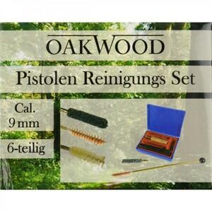 Oakwood Waffenreinigungsset Cal.9mm 6tlg.Set Waffenpflegeset Pistolen Reinigung