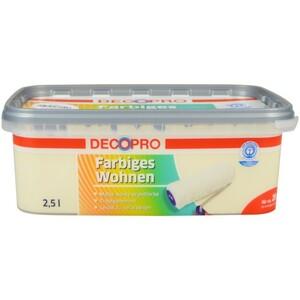 DecoPro Wandfarbe 2,5 Liter vanille matt