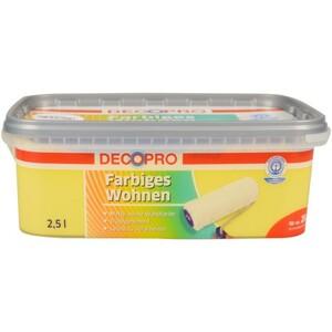 DecoPro Wandfarbe 2,5 Liter sunshine matt