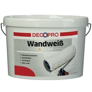 DecoPro Wandweiß 5 Liter stumpfmatt