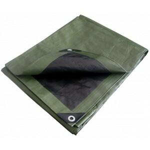 Fishbull Abdeckplane Profi 4 x 5 m 150 g/m² grün/schwarz