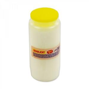 Grablicht 14,5cm 300g Kunststoff weiß Öllicht Nr.7 Grableuchte Kerze Grabkerze