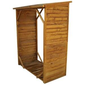Kaminholzregal 1280x950x1020mm Holz natur