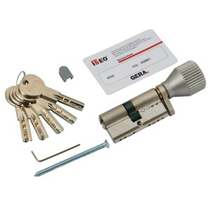 Schließzylinder GERA K-5-WS verstellbar 30-30 mm 5 Schlüssel
