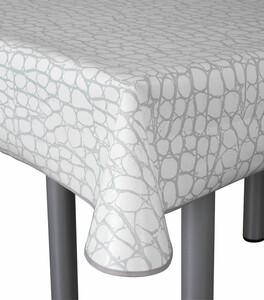 Home Ideas paspelierte Tischdecke oval, Stein