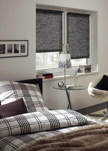 Gardinia EasyFix Rollo Natur ,  black & white, 100 x 150 cm