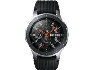 SAMSUNG Galaxy Watch 46 mm Bluetooth, Smartwatch, Silikon, S, L, Silber