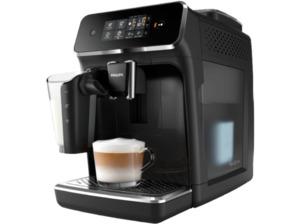 PHILIPS EP 2231/40 2200 LatteGo, Kaffeevollautomat, 1.8 Liter Wassertank, 15 bar, Matt-Schwarz/Klavierlack-Schwarz